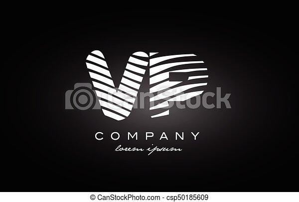Vp V P Letter Alphabet Logo Black White Icon Design Vp V P Letter