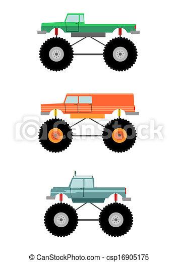 vrachtwagen, monster - csp16905175