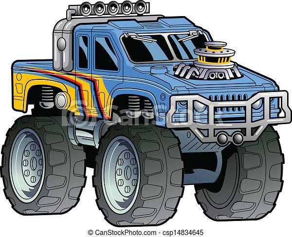 vrachtwagen, monster - csp14834645