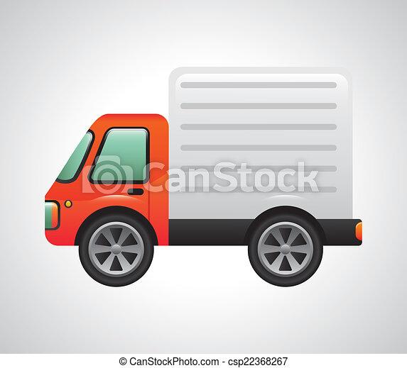 vrachtwagen, ontwerp - csp22368267