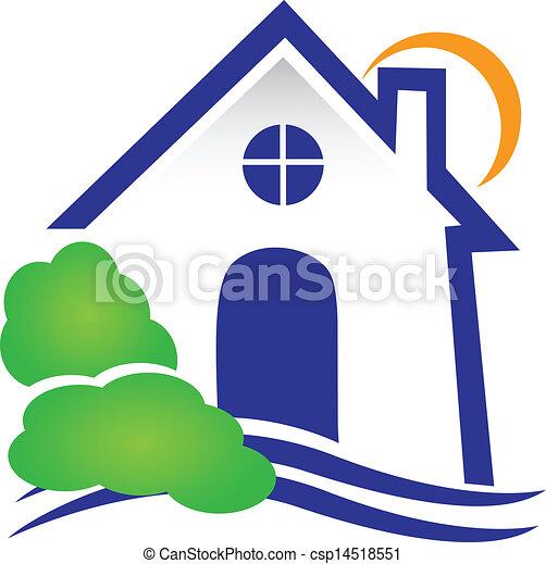 vrai, maison, vecteur, propriété, logo - csp14518551