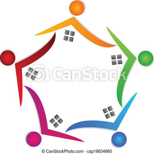 vrai, maisons, vecteur, propriété, icône - csp16634965