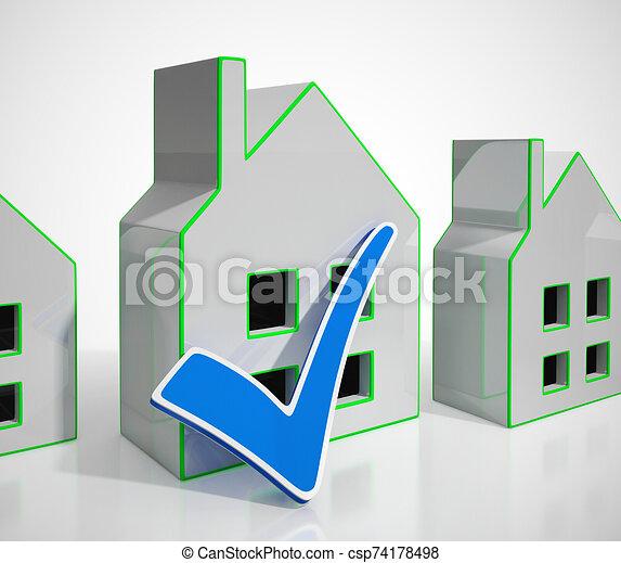 vrai, propriété, internet, maison, icône, -, moyens, concept, 3d, par, illustration, propriété - csp74178498