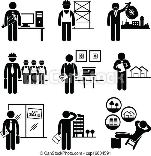vrai, propriétés, construction, travaux - csp16804591
