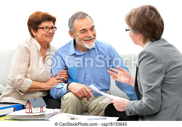 vrai, réunion, agent immobilier - csp18133643