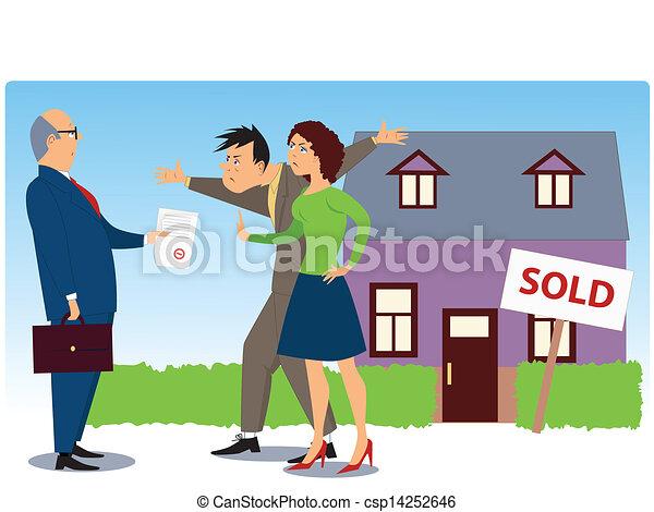 vrai, sur, vente, conflit, propriété - csp14252646