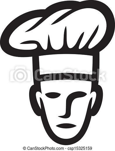 vrchní kuchař, čelit - csp15325159