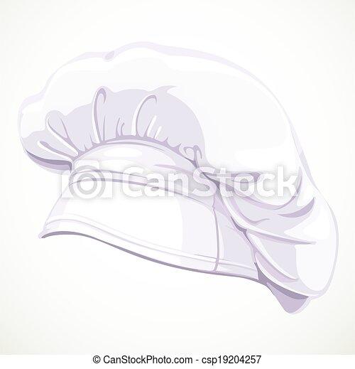 vrchní kuchař, neposkvrněný, moderní, klobouk - csp19204257