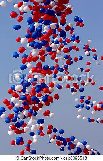 vrijgegeven, ballons, viering - csp0095518