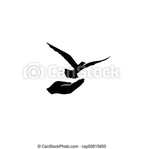 Voorkeur Vrijheid, hand., vrede, duif, symbool., vrije vogel, duif @FJ21