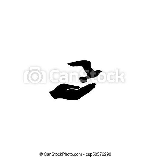 Geliefde Vrijheid, hand., vrede, duif, symbool., vrije vogel, duif &LE21