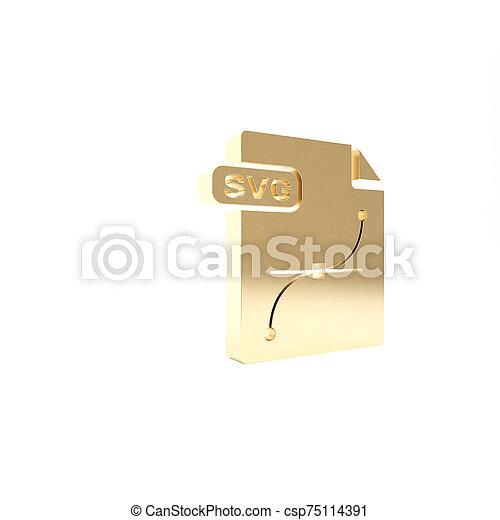 vrijstaand, knoop, render, pictogram, svg, 3d, goud, illustratie, achtergrond., symbool., downloaden, bestand, document., witte  - csp75114391