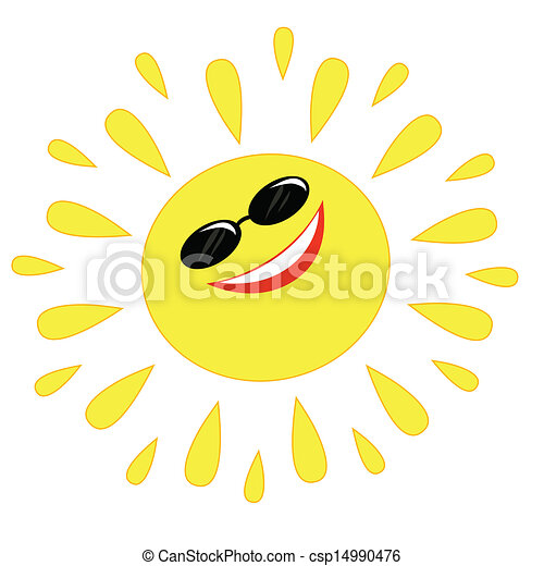 vrolijk, zon - csp14990476