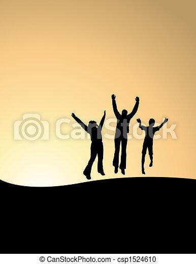 vrolijke , 3 mensen - csp1524610