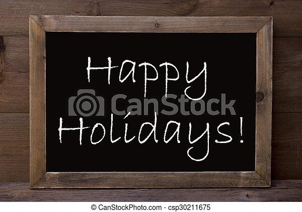 vrolijke , chalkboard, feestdagen - csp30211675