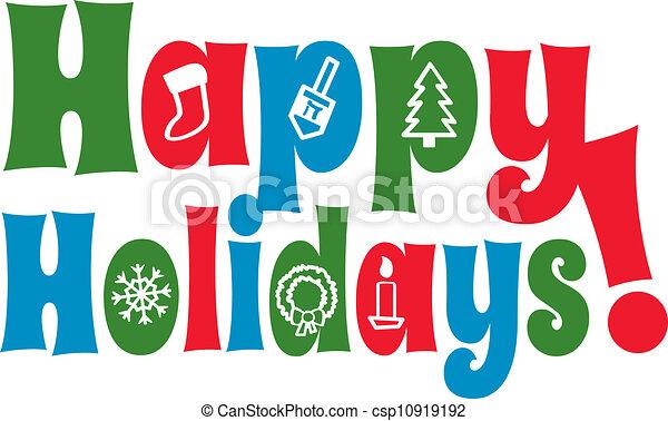 vrolijke , feestdagen, iconen - csp10919192