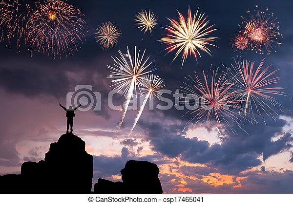 vrolijke , succes, man - csp17465041