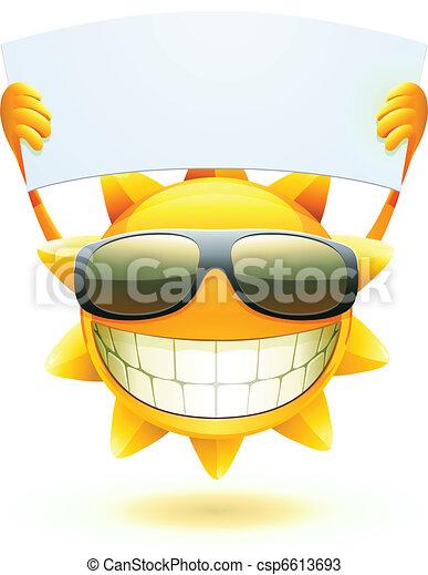 vrolijke , zon, zomer - csp6613693
