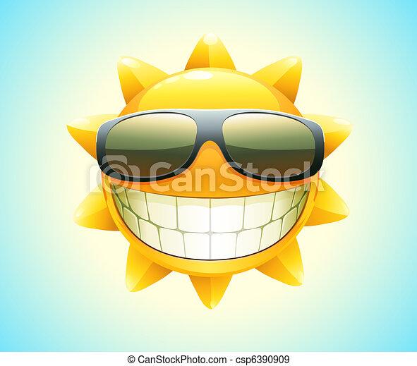 vrolijke , zon, zomer - csp6390909
