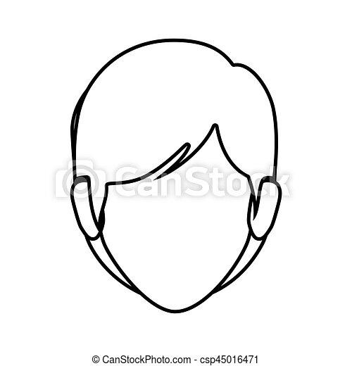 vrouw anoniem haar kort voorkant omtrek aanzicht