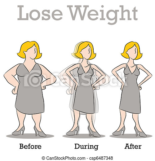 vrouw, gewicht, verliezen - csp6487348
