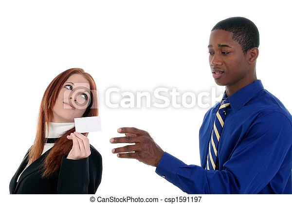 vrouw, kaart, zakenmens  - csp1591197