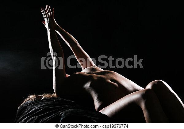 vrouw, sensueel - csp19376774