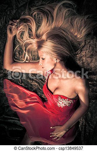 vrouw, sensueel - csp13849537
