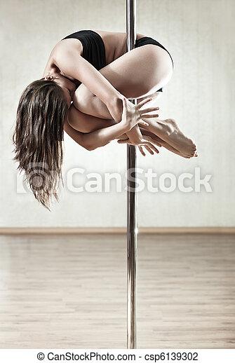 vrouw, slank, jonge - csp6139302