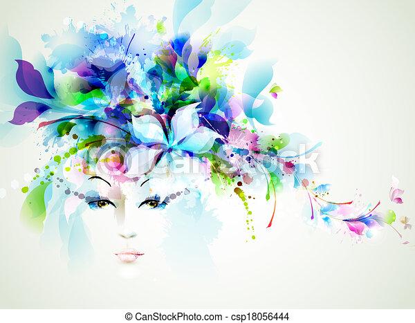 vrouwen, mode - csp18056444