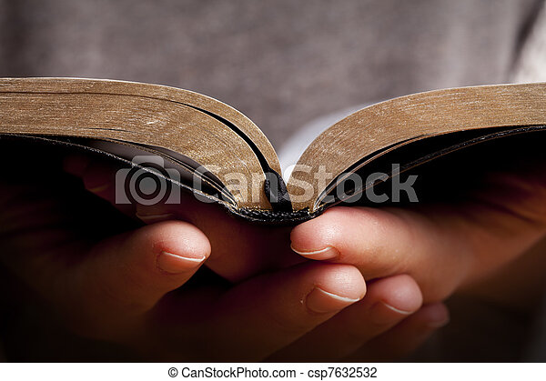 vrouwenholding, bijbel - csp7632532