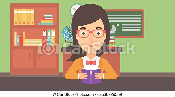 vrouwenlezing, book. - csp36729559