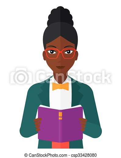 vrouwenlezing, book. - csp33428080