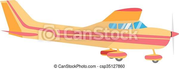 vrtule, nečetný letadlo, svobodný - csp35127860