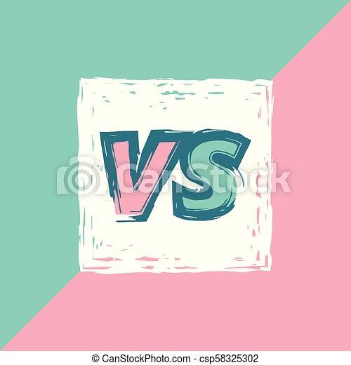 Vs Banner Versus Screen Vs Screen Versus Sign On Divided