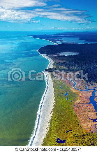 vue, nouvelle zélande, côtier - csp5430571