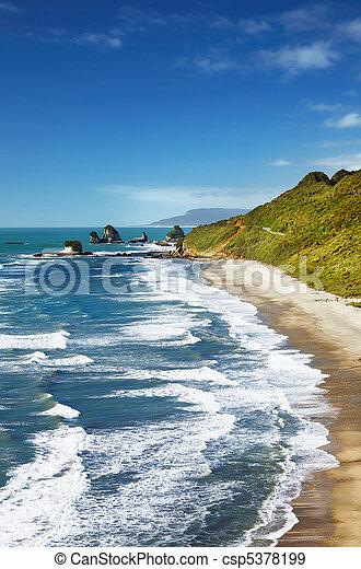 vue, nouvelle zélande, côtier - csp5378199