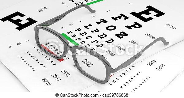 lisse meilleure sélection qualité fiable vue, rendre, paire, essai, 3d lunettes