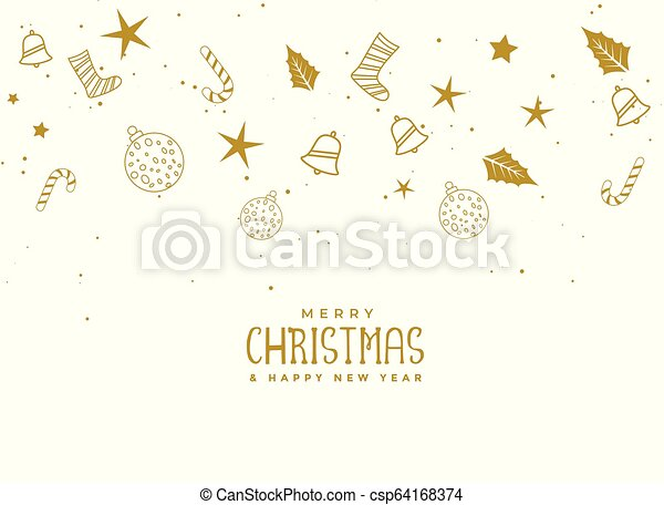Elementos de Navidad sobre fondo blanco - csp64168374