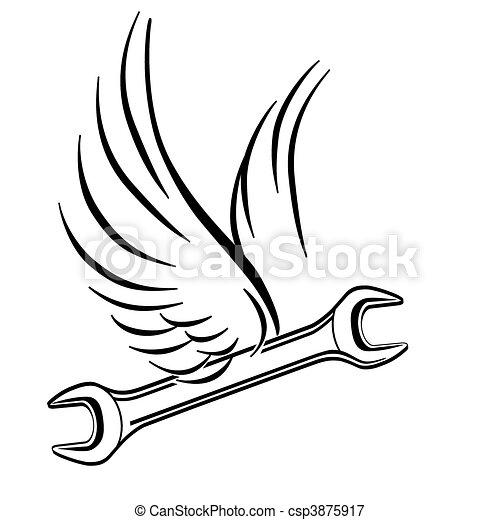 Una llave voladora - csp3875917