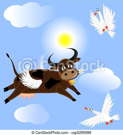 Vaca voladora - csp5295999