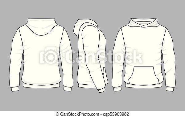 Vues, dos, devant, hoodie, sweatshirt, mâ