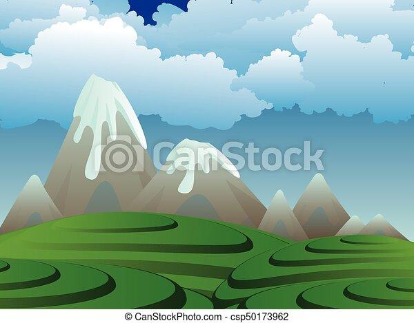 Vulcano cartone animato isola vulcano island cartone animato