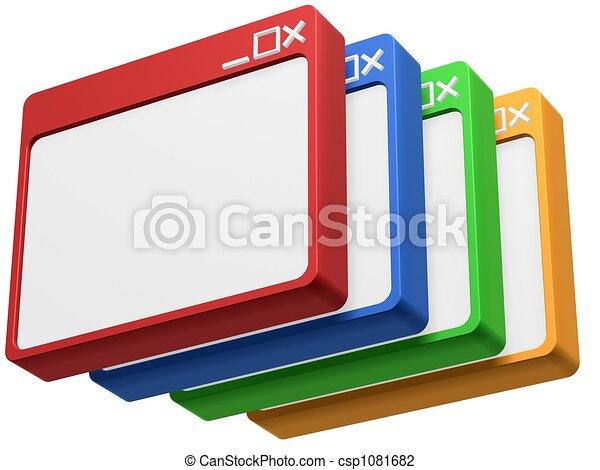 vuoto, 3d, colorito, browser - csp1081682