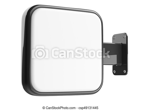 vuoto, cartello, quadrato, installazione, wall. - csp49131445
