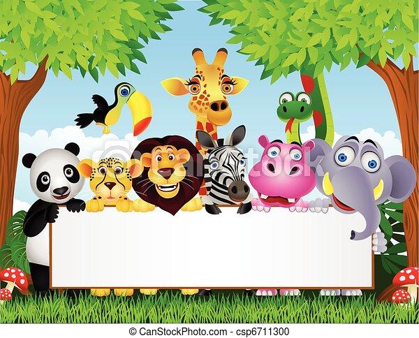 vuoto, cartone animato, animale, segno - csp6711300
