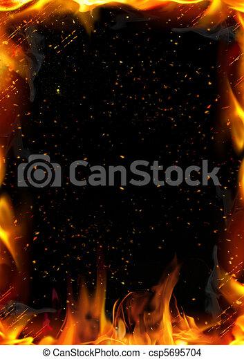 vuur, abstract, vlam, achtergrond - csp5695704