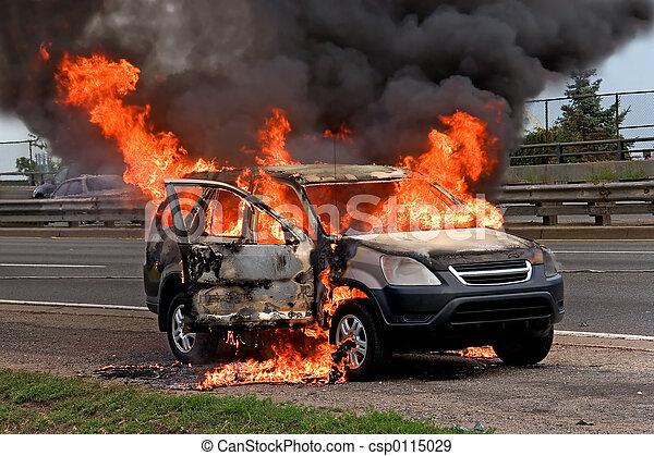 vuur, auto, burning - csp0115029