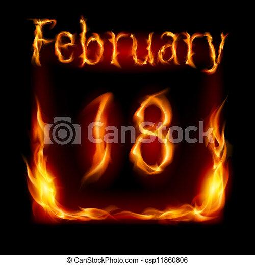 vuur, kalender - csp11860806