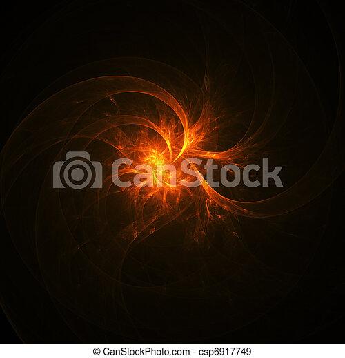 vuur, stralen, vlam, spiraal - csp6917749